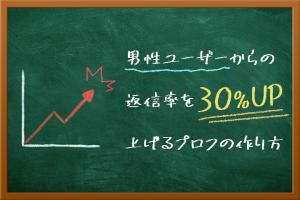 男性ユーザーからの返信率を30%上げるプロフの作り方とは?
